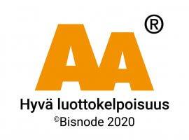 Bisnode AA 2020 - Hyvä luottokelpoisuus